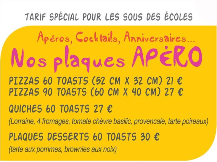 Plaques apéro Pizz'addict Bourg en Bresse