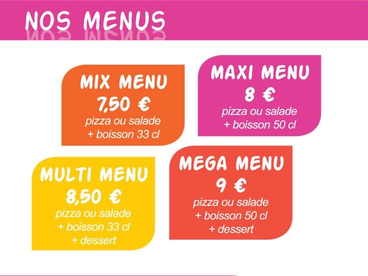 Menu Pizzas Pizz'addict bourg en bresse