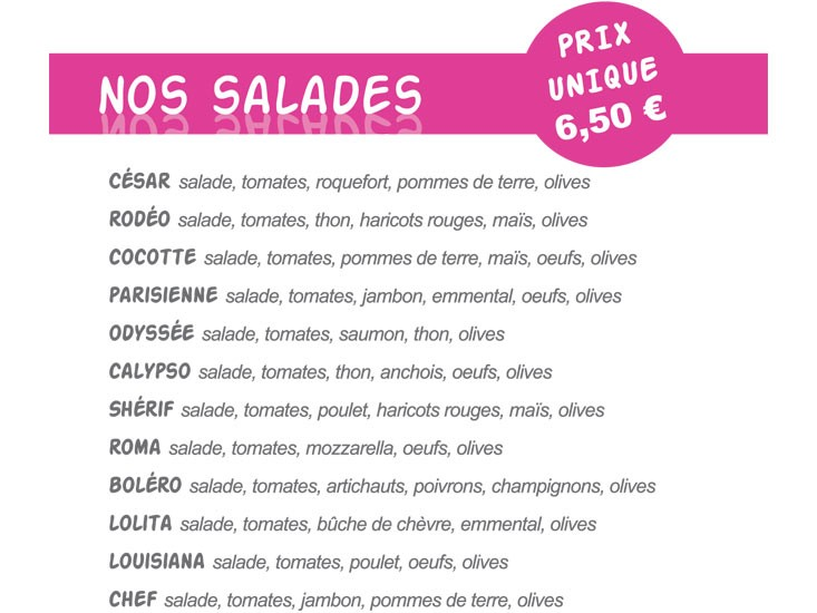 Salades Pizz'Addict Bourg en Bresse